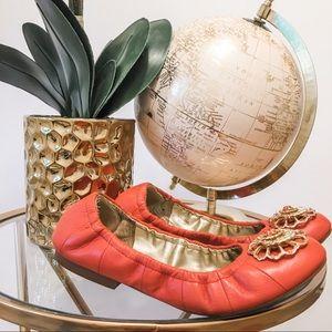 Tahari Coral Jeweled Ballerina Flats
